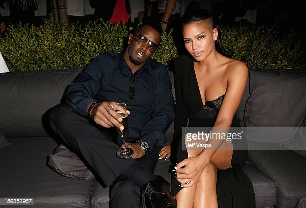 Musicians Sean 'Diddy' Combs and Cassie Ventura attend the GQ Men of the Year Party at Chateau Marmont on November 13 2012 in Los Angeles California