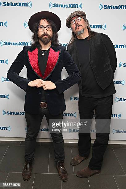 Musicians Sean Lennon and Les Claypool visit the SiriusXM Studio on May 23 2016 in New York City