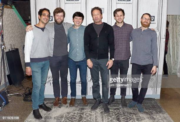 Musicians Sebastian Modak Keenan O'Meara Colin Lee David Duchovny Mitchell Stewart and Pat McCusker attend the Build Series to discuss at Build...