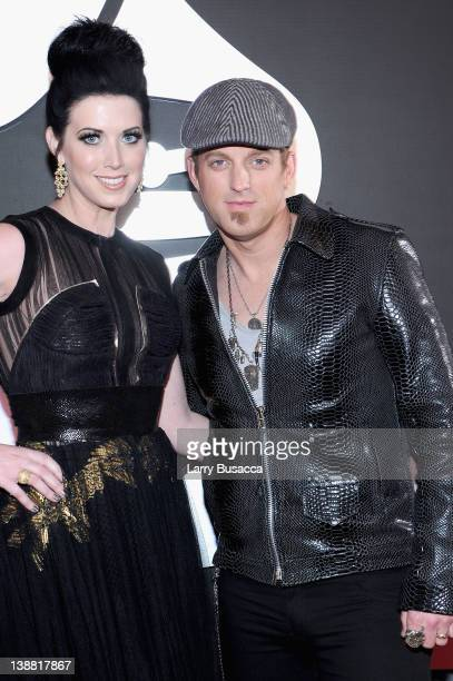 Musicians Shawna Thompson and Keifer Thompson of the duo Thompson Square arrives at the 54th Annual GRAMMY Awards held at Staples Center on February...