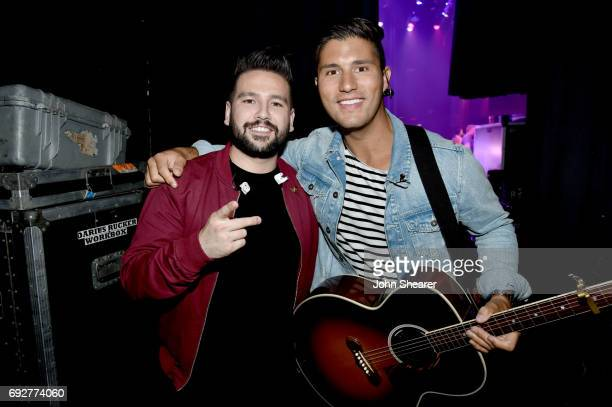 Musicians Shay Mooney and Dan Smyers of Dan Shay performs onstage during the 8th annual Darius Friends concert to benefit St Jude's Children's...