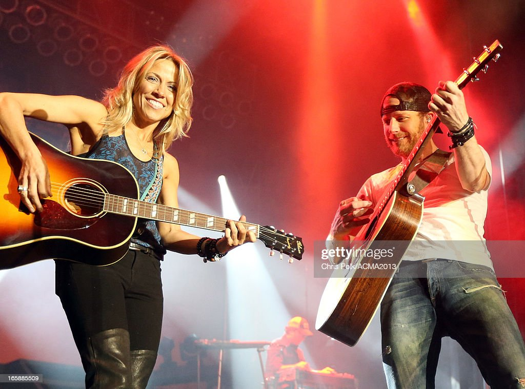 Musicians Sheryl Crow and Dierks Bentley perform onstage at the ACM Party For A Cause Festival during the 48th Annual Academy of Country Music Awards at the Orleans Arena on April 6, 2013 in Las Vegas, Nevada.
