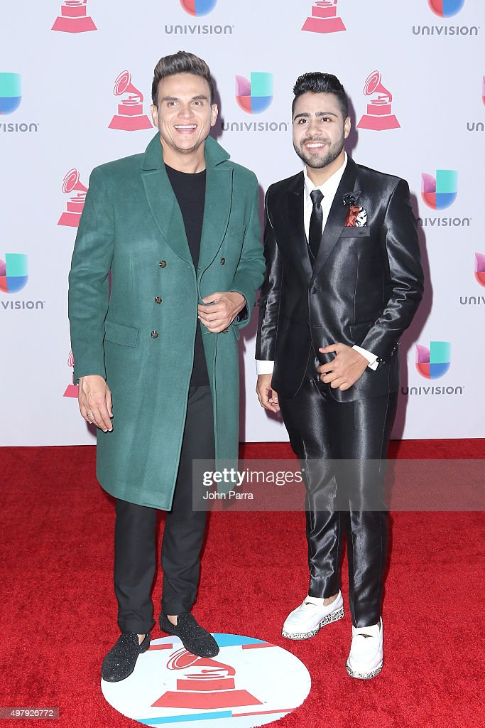 Musicians Silvestre Dangond and Lucas Dangond attend the 16th Latin GRAMMY Awards at the MGM Grand Garden Arena on November 19, 2015 in Las Vegas, Nevada.