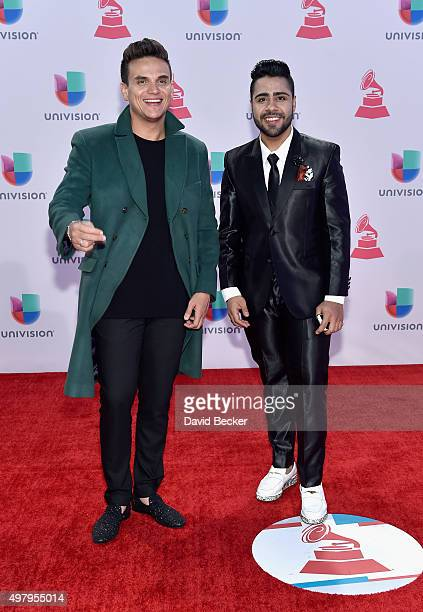 Musicians Silvestre Dangond and Lucas Dangond attend the 16th Latin GRAMMY Awards at the MGM Grand Garden Arena on November 19 2015 in Las Vegas...