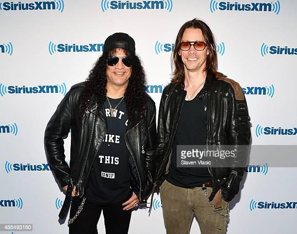 Musicians Slash and Myles Kennedy visit SiriusXM Studios on September 15 2014 in New York City
