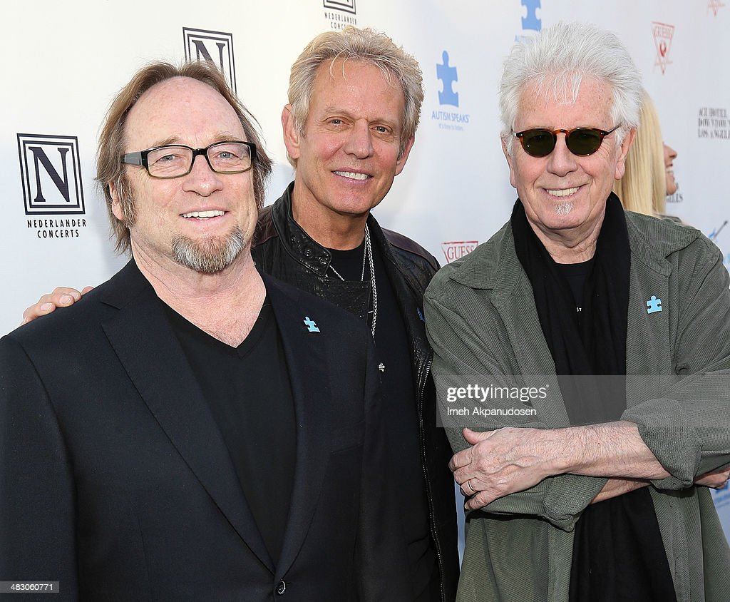Musicians Stephen Stills, Don Felder, and Graham Nash attends the 2nd Light Up The Blues Concert - An Evening Of Music To Benefit Autism Speaks at The Theatre At Ace Hotel on April 5, 2014 in Los Angeles, California.