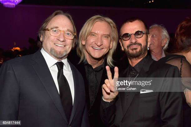 Musicians Stephen Stills Joe Walsh and Ringo Starr attend PreGRAMMY Gala and Salute to Industry Icons Honoring Debra Lee at The Beverly Hilton on...
