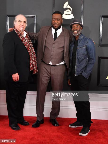 Musicians Steve Berkowitz Robert Glasper and actor Don Cheadle attend The 59th GRAMMY Awards at STAPLES Center on February 12 2017 in Los Angeles...