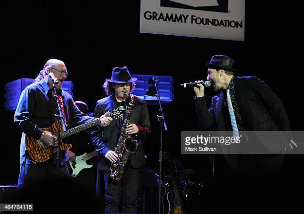 Musicians Steve Cropper Boney James and Gavin DeGraw perform at 'A Song Is Born' the 16th Annual GRAMMY Foundation Legacy Concert held at the...