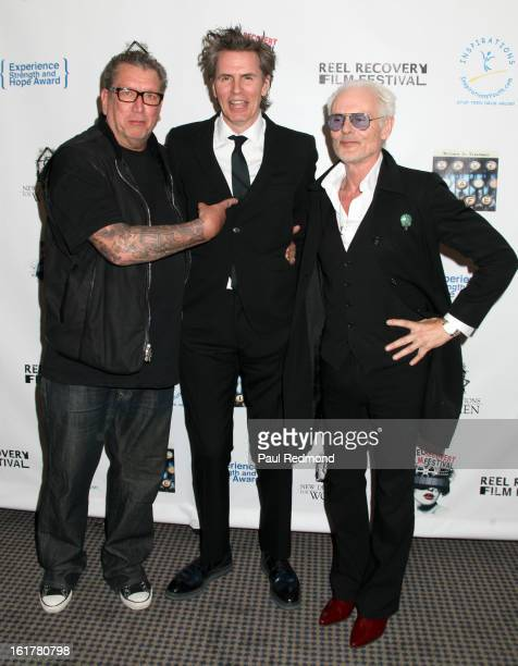 Musicians Steve Jones John Taylor and Michael Des Barres arrive at Writers In Treatment's 4th Annual Experience Strength And Hope Awards at Skirball...