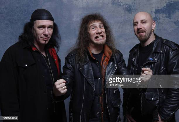 Musicians Steve 'Lips' Kudlow Robb Reiner and G5 at the 360 Sky Delta Lounge WireImage Portrait Studio on January 30 2008 in Park City Utah