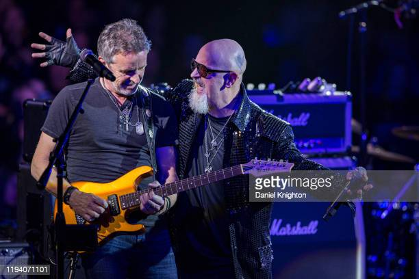 Musicians Steve Mandile of Sixwire and Rob Halford of Judas Priest perform on stage at Celebrity Theatre on December 14 2019 in Phoenix Arizona