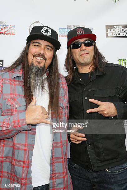 Musicians Steve Summers and Mike Summers of Sprung Monkey attend Rob Zombie's Great American Nightmare VIP opening night party at Pomona FEARplex on...