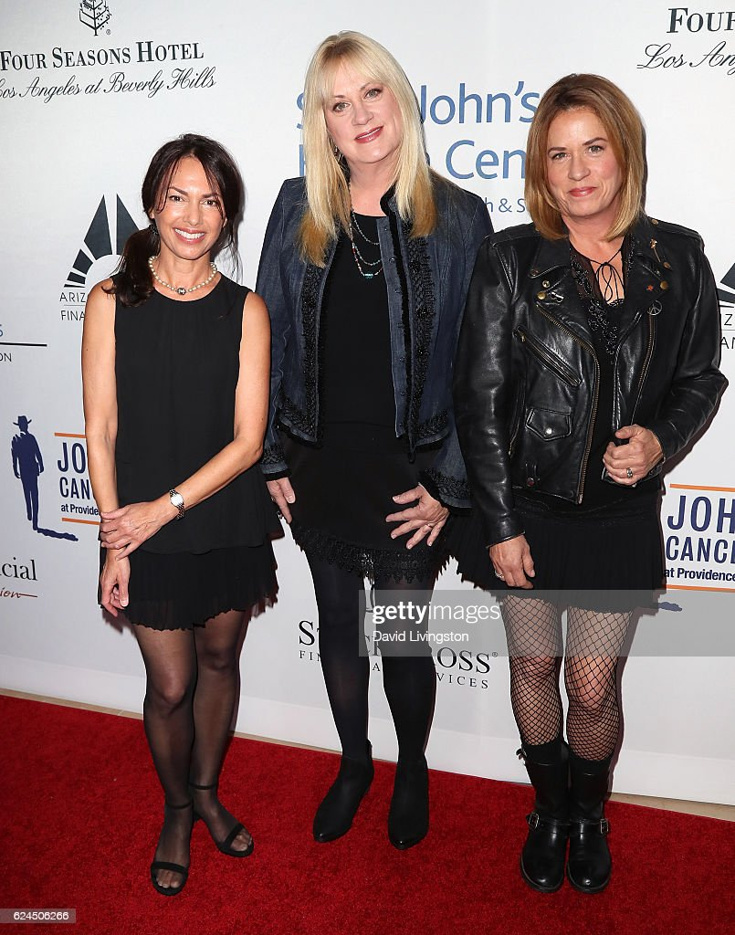 Musicians Susanna Hoffs, Debbi Peterson and Vicki Peterson of The Bangles attend the Talk of the Town Gala 2016 at The Beverly Hilton Hotel on November 19, 2016 in Beverly Hills, California.