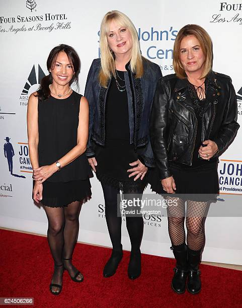 Musicians Susanna Hoffs Debbi Peterson and Vicki Peterson of The Bangles attend the Talk of the Town Gala 2016 at The Beverly Hilton Hotel on...