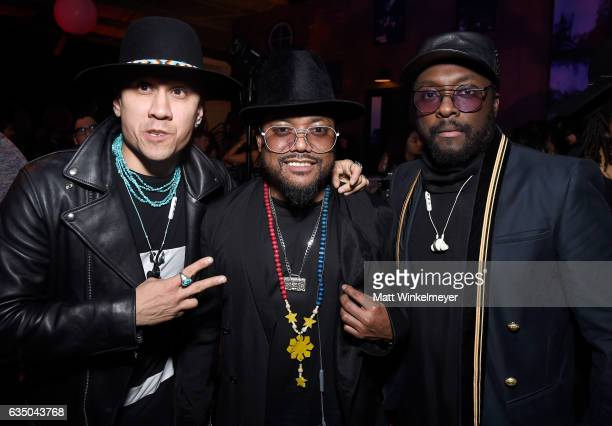 Musicians Taboo apldeap and william attend the Warner Music Group GRAMMY Party at Milk Studios on February 12 2017 in Hollywood California