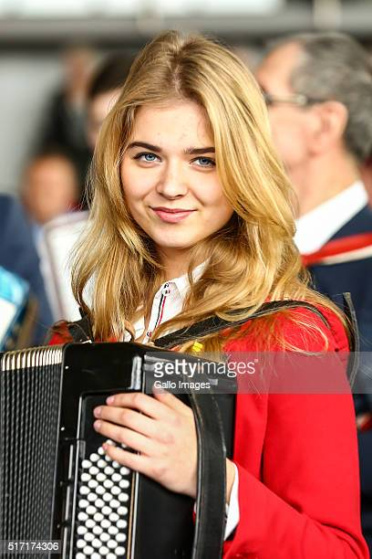 Musicians take part in an attempt to beat the Guinness World Record in performing a simultaneous score on accordion on March 20 2016 in Bojano Poland...