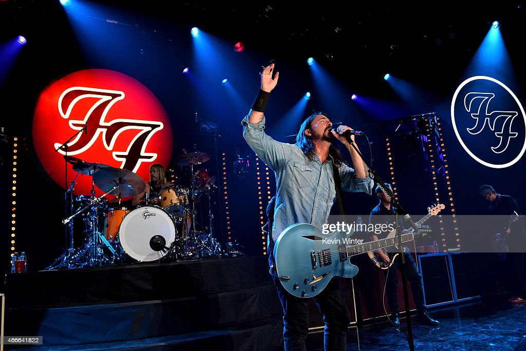 Foo Fighters On The Honda Stage At The iHeartRadio Theater Los Angeles Hosted By Chelsea Handler