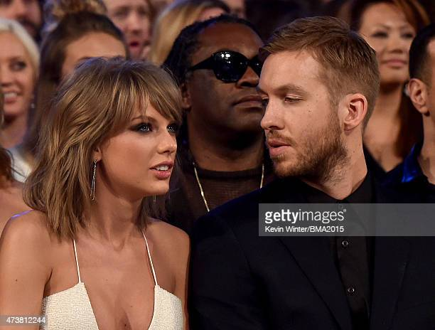 Musicians Taylor Swift and Calvin Harris attend the 2015 Billboard Music Awards at MGM Grand Garden Arena on May 17, 2015 in Las Vegas, Nevada.
