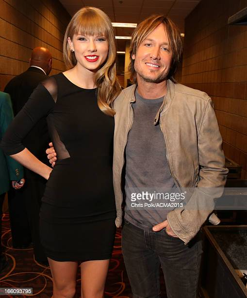 Musicians Taylor Swift and Keith Urban attend Tim McGraw's Superstar Summer Night presented by the Academy of Country Music at the MGM Grand Garden...