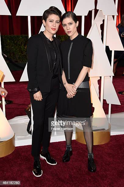 Musicians Tegan Quin and Sara Quin of Tegan and Sara attend the 87th Annual Academy Awards at Hollywood Highland Center on February 22 2015 in...