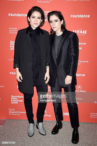 Musicians Tegan Quin and Sara Quin of Tegan and Sara attend the 'The Intervention' Premiere during the 2016 Sundance Film Festival at Eccles Center...