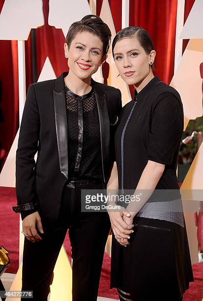 Musicians Tegan Rain Quin and Sara Keirsten Quin of Tegan and Sara arrive at the 87th Annual Academy Awards at Hollywood Highland Center on February...