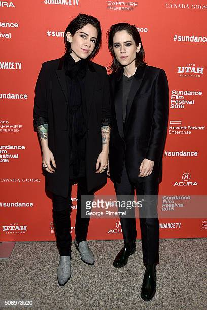 Musicians Tegan Rain Quin and Sara Keirsten Quin of Tegan and Sara attend the 'The Intervention' Premiere during the 2016 Sundance Film Festival at...