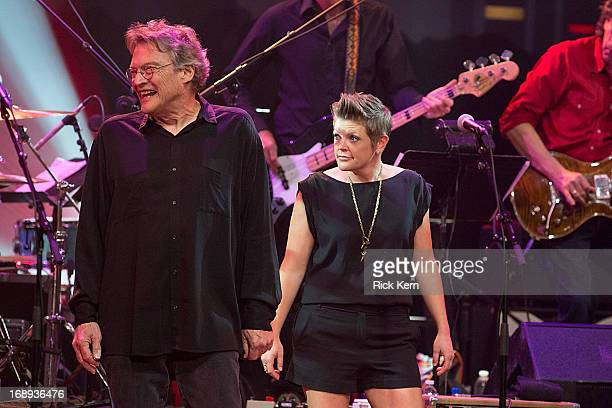 Musicians Terry Allen and Natalie Maines perform in concert during the KLRU All-Star Celebration at ACL Live on May 16, 2013 in Austin, Texas.
