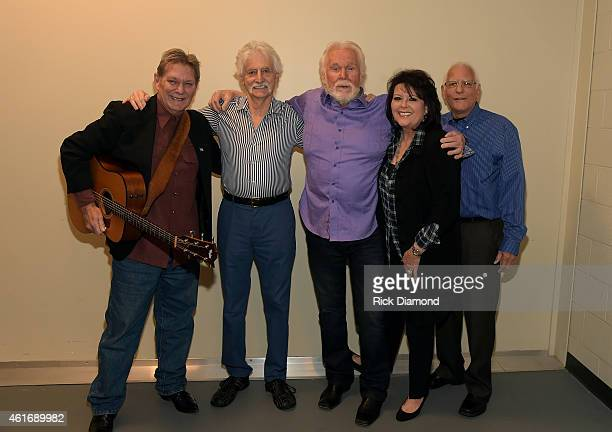 Musicians Terry Williams Gene Lorenzo Kenny Rogers Mary Arnold Miller and Mike Settle attend a panel discussion with Kenny Rogers and the First...