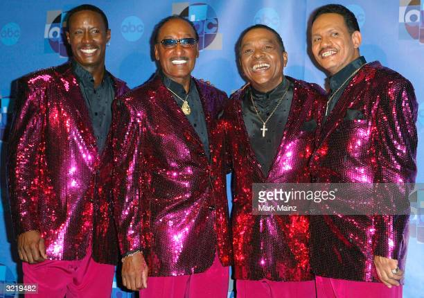 Musicians The Four Tops attends the press room for Motown 45 a celebration of music that established the record label at the Shrine Auditorium April...