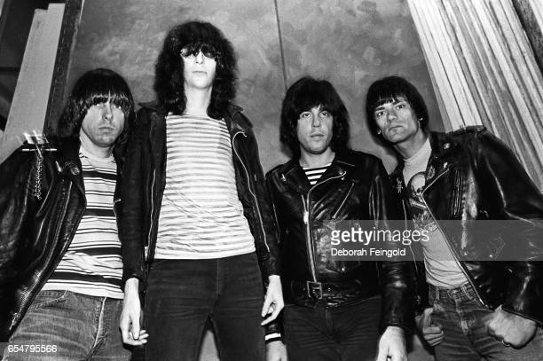 Musicians The Ramones posing for a portrait in March I983 in New York City New York