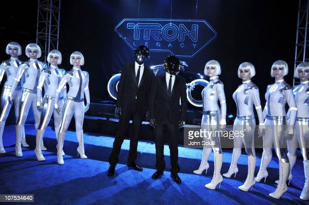 Musicians Thomas Bangalter and GuyManuel De HomemChristo of Daft Punk arrives at Walt Disney's 'TRON Legacy' World Premiere held at the El Capitan...