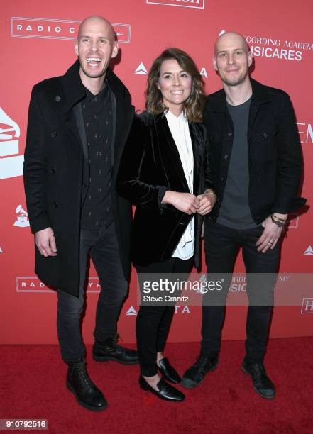 Musicians Tim Hanseroth Brandi Carlile and Phil Hanseroth attend MusiCares Person of the Year honoring Fleetwood Mac at Radio City Music Hall on...
