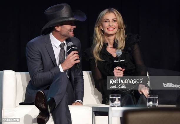Musicians Tim McGraw and Faith Hill speak during the Billboard 2017 Touring Conference Legends Of Live Tim McGraw And Faith Hill at Montage Beverly...