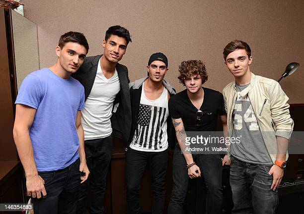 Musicians Tom Parker, Siva Kaneswaran, Max George, Jay McGuiness and Nathan Sykes of The Wanted attend the Media Mixer industry event presented by...