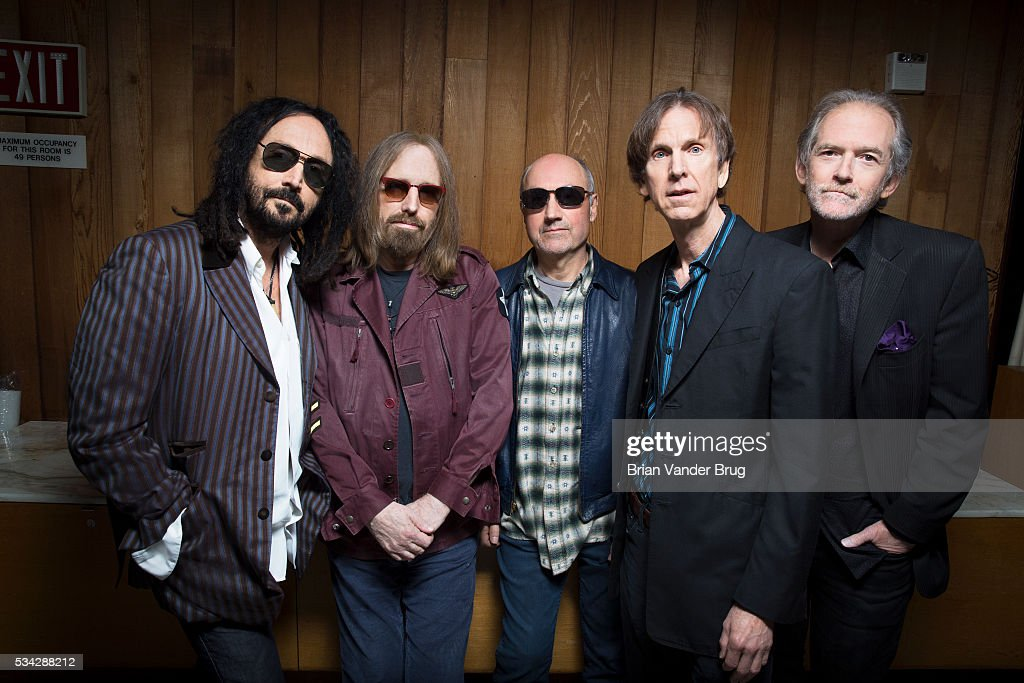 Musicians Tom Petty, Randall Marsh, Mike Campbell, Benmont Tench, Tom Leadon of Mudcrutch are photographed for Los Angeles Times on April 7, 2016 in Los Angeles, California. PUBLISHED IMAGE.