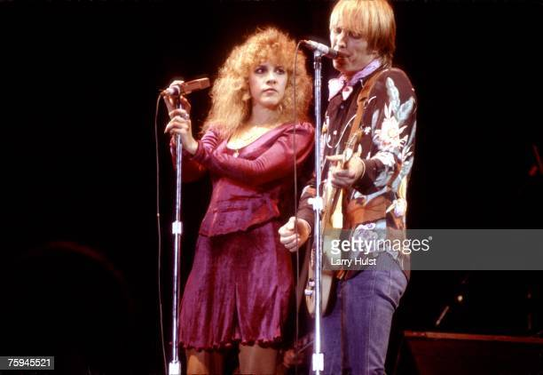 Musicians Tom Petty Stevie Nicks perform onstage in 1981