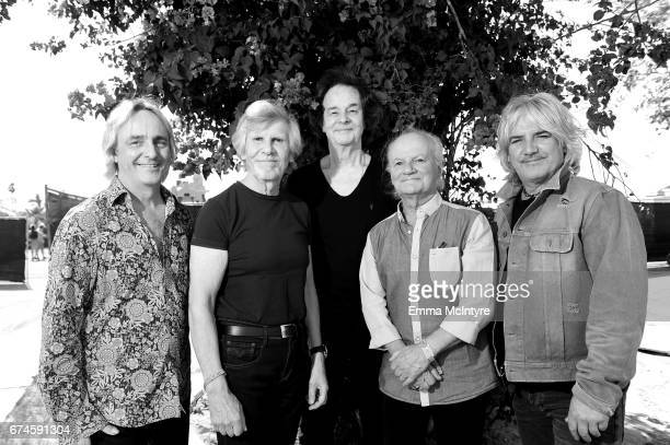 Musicians Tom Toomey Rod Argent Colin Blunstone Jim Rodford and Steve Rodford of The Zombies pose for a portrait at 2017 Stagecoach California's...