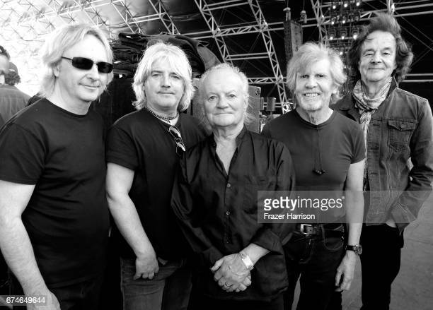 Musicians Tom Toomey Steve Rodford Jim Rodford Rod Argent and Colin Blunstone of The Zombies on the Palomino stage during day 1 of 2017 Stagecoach...