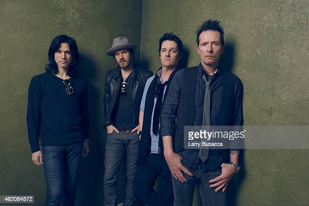 Musicians Tommy Black Jeremy Brown Danny Thompson and Scott Weiland pose for a portrait at the Village at the Lift Presented by McDonald's McCafe...