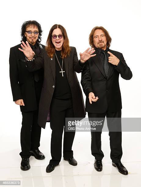 Musicians Tony Iommi Ozzy Osbourne and Geezer Butler of Black Sabbath pose for a portrait in the CBS/GRAMMY Awards photo gallery during the 56th...