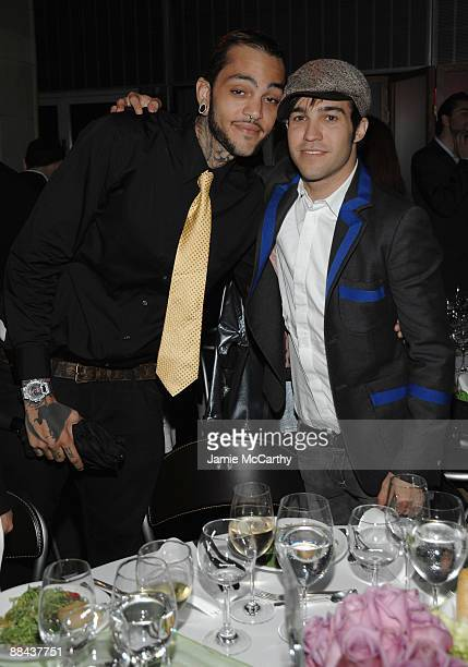 Musicians Travis McCoy and Pete Wentz attend the 8th Annual Jed Foundation Gala at Guastavino's on June 11 2009 in New York City