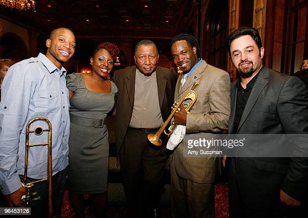 Musicians Troy Trumbone Shorty Andrews Ledisi Bob French Shamarr Allen and Neal Caine attend Only in Louisiana brunch celebration of music culture...