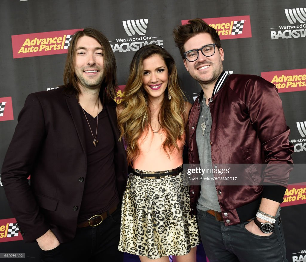 Musicians Tyler Oban, Cassandra Lawson, and Jonathan Lawson of The Railers attend the 52nd Academy Of Country Music Awards Cumulus/Westwood One Radio Remotes at T-Mobile Arena on March 31, 2017 in Las Vegas, Nevada.