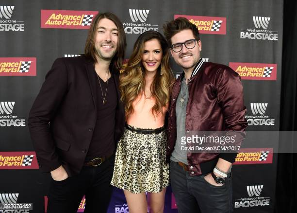 Musicians Tyler Oban Cassandra Lawson and Jonathan Lawson of The Railers attend the 52nd Academy Of Country Music Awards Cumulus/Westwood One Radio...