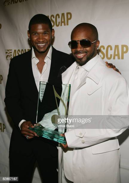Musicians Usher and Jermaine Dupri attend the 22nd Annual ASCAP Pop Music Awards Gala on May 16 2005 at the Beverly Hilton in Beverly Hills...