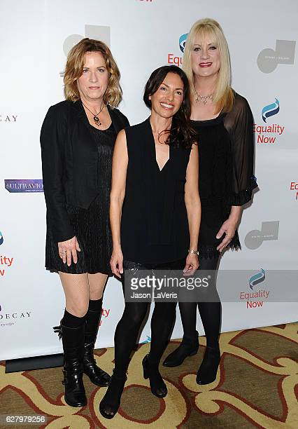 Musicians Vicki Peterson Susanna Hoffs and Debbi Peterson of The Bangles attend Equality Now's 3rd annual Make Equality Reality gala at Montage...