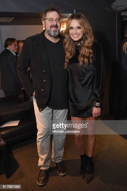 Musicians Vince Gill and Carly Pearce attend the Country Music Hall of Fame and Museum's 'All for the Hall' Benefit on February 13 2018 in New York...