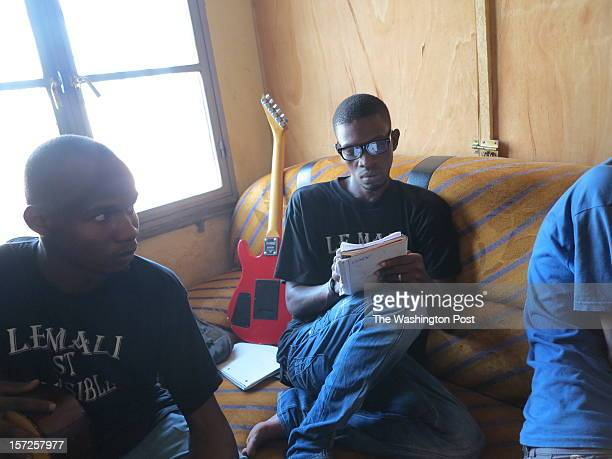 Musicians who fled northern Mali gather in a cramped apartment in the capital Bamako to record songs that speak of liberation and peace Hundreds of...
